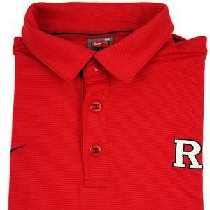 Nike Rutgers Dri-Fit Polo Shirt Men's Size Medium